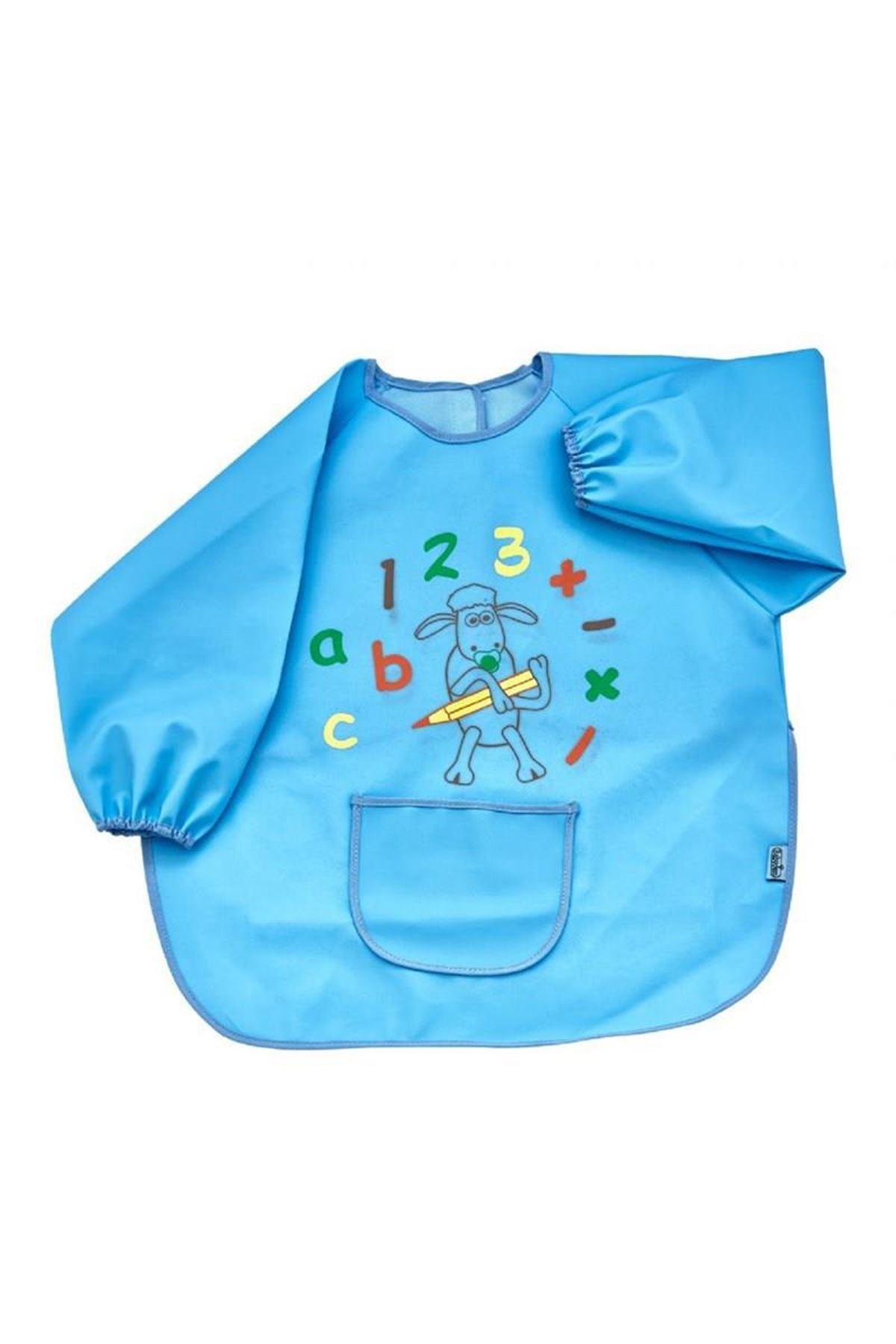 BabyJem Bebek Faaliyet Önlüğü Kollu 049 Mavi