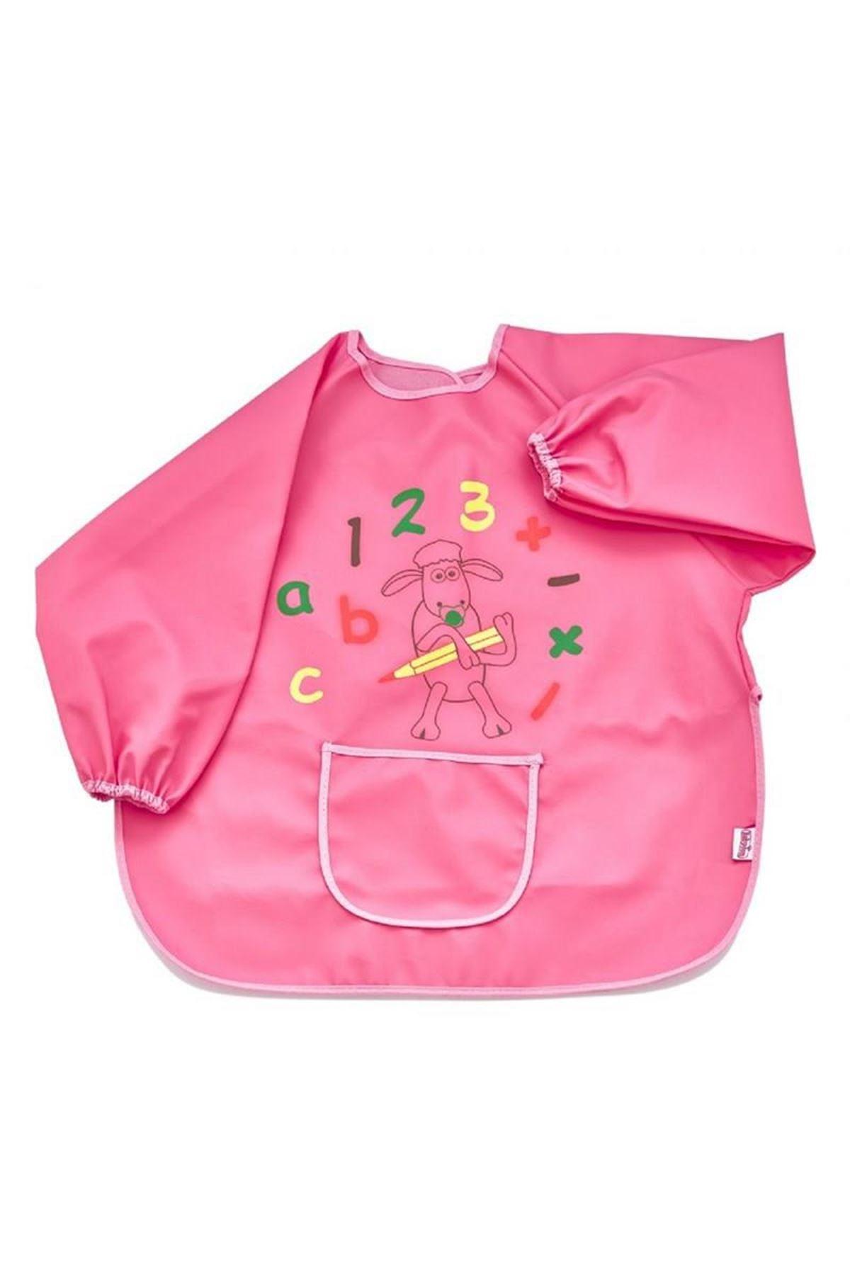 BabyJem Bebek Faaliyet Önlüğü Kollu 049 Pembe
