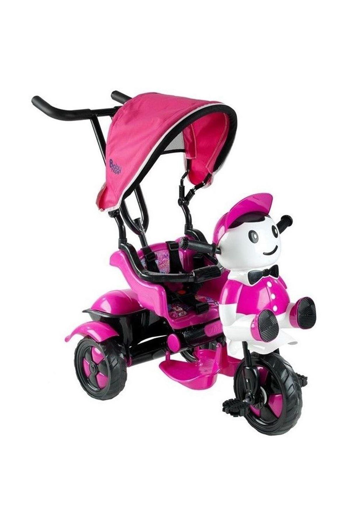 Babyhope 125 Yupi Triycle 3 Tekerli Kontrollü Bisiklet Pembe