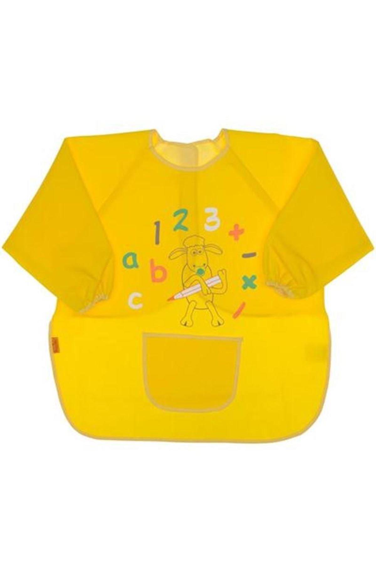 BabyJem Bebek Faaliyet Önlüğü Kollu 049 Sarı