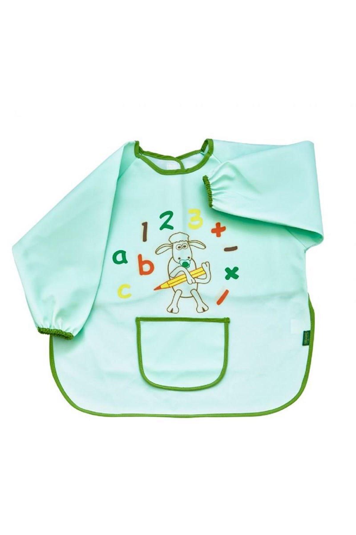 BabyJem Bebek Faaliyet Önlüğü Kollu 049 Yeşil