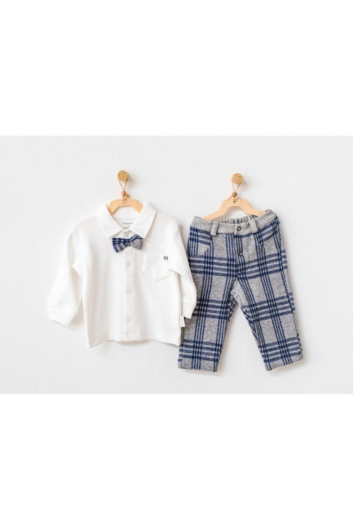 Andywawa AC21153 Awesome 2li Bebek Takım Ekru