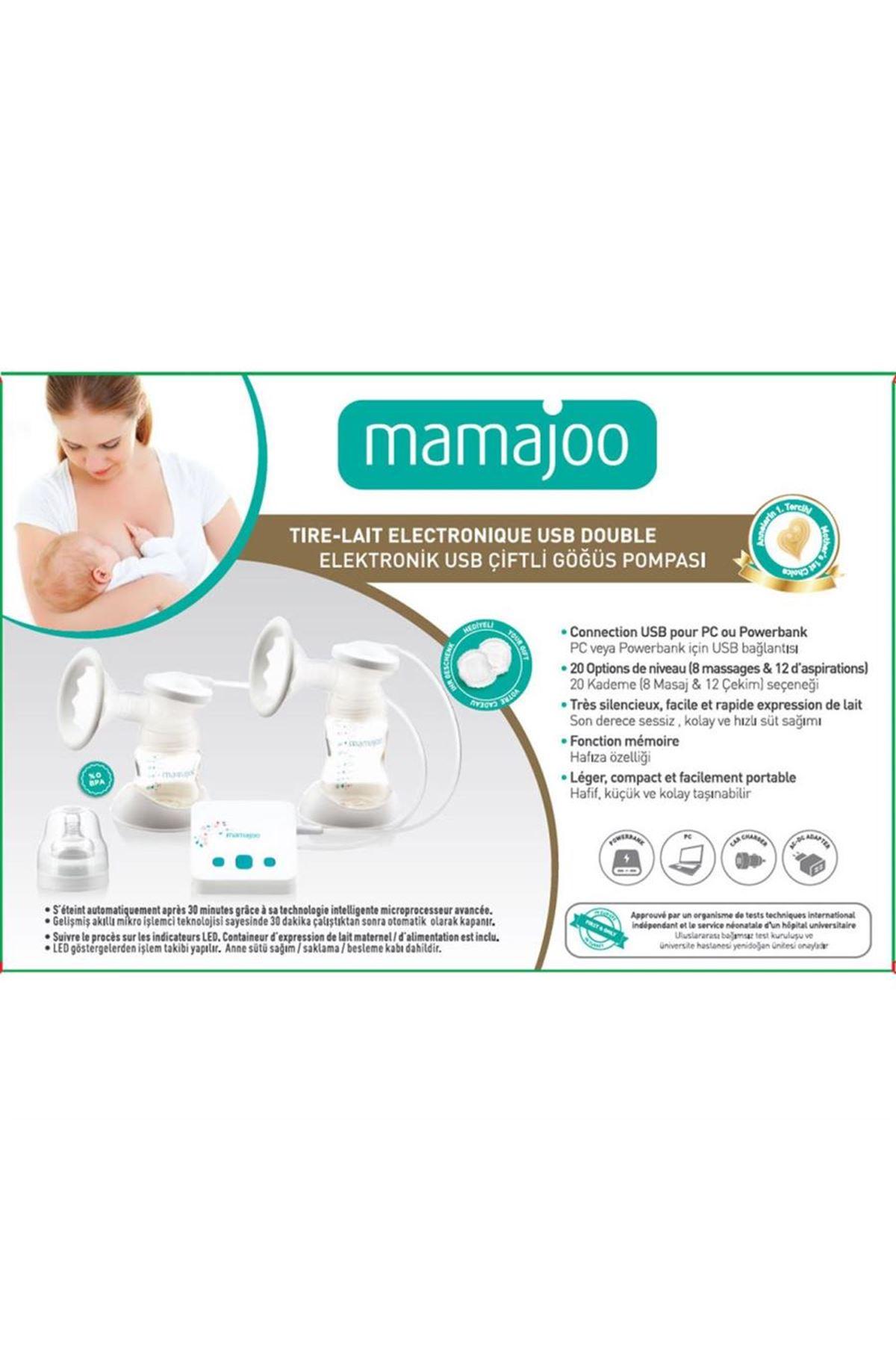Mamajoo Elektronik USB Çiftli Göğüs Pompası