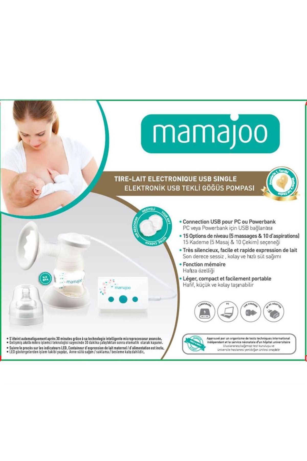 Mamajoo Elektronik USB Tekli Göğüs Pompası