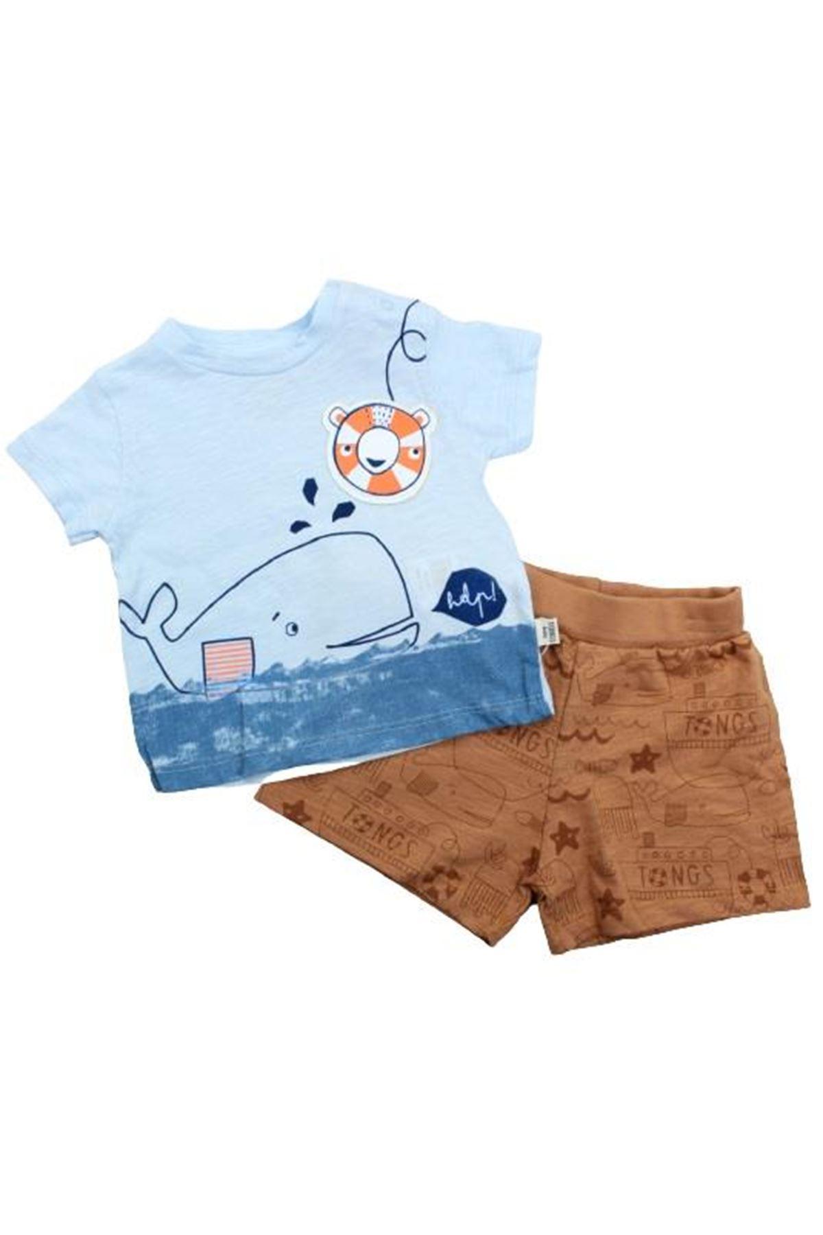 Tongs Baby Under The Sea 2li Bebe Takım 2852 Kahve