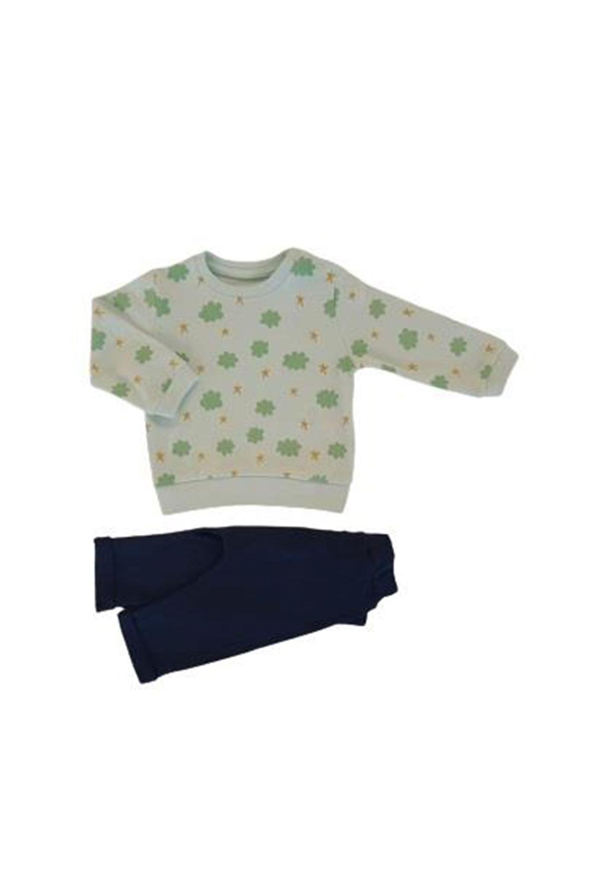 Tongs Baby Bulutlu 2li Bebe Takım 3516 Yeşil
