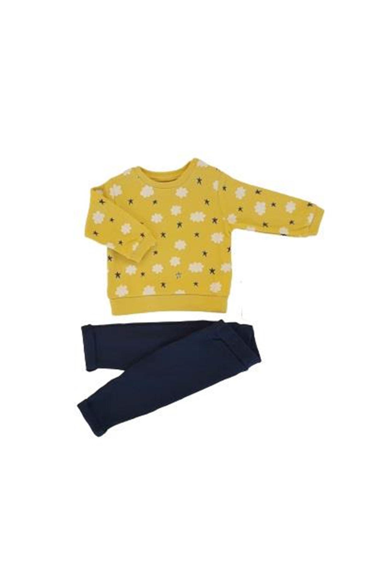 Tongs Baby Bulutlu 2li Bebe Takım 3516 Sarı