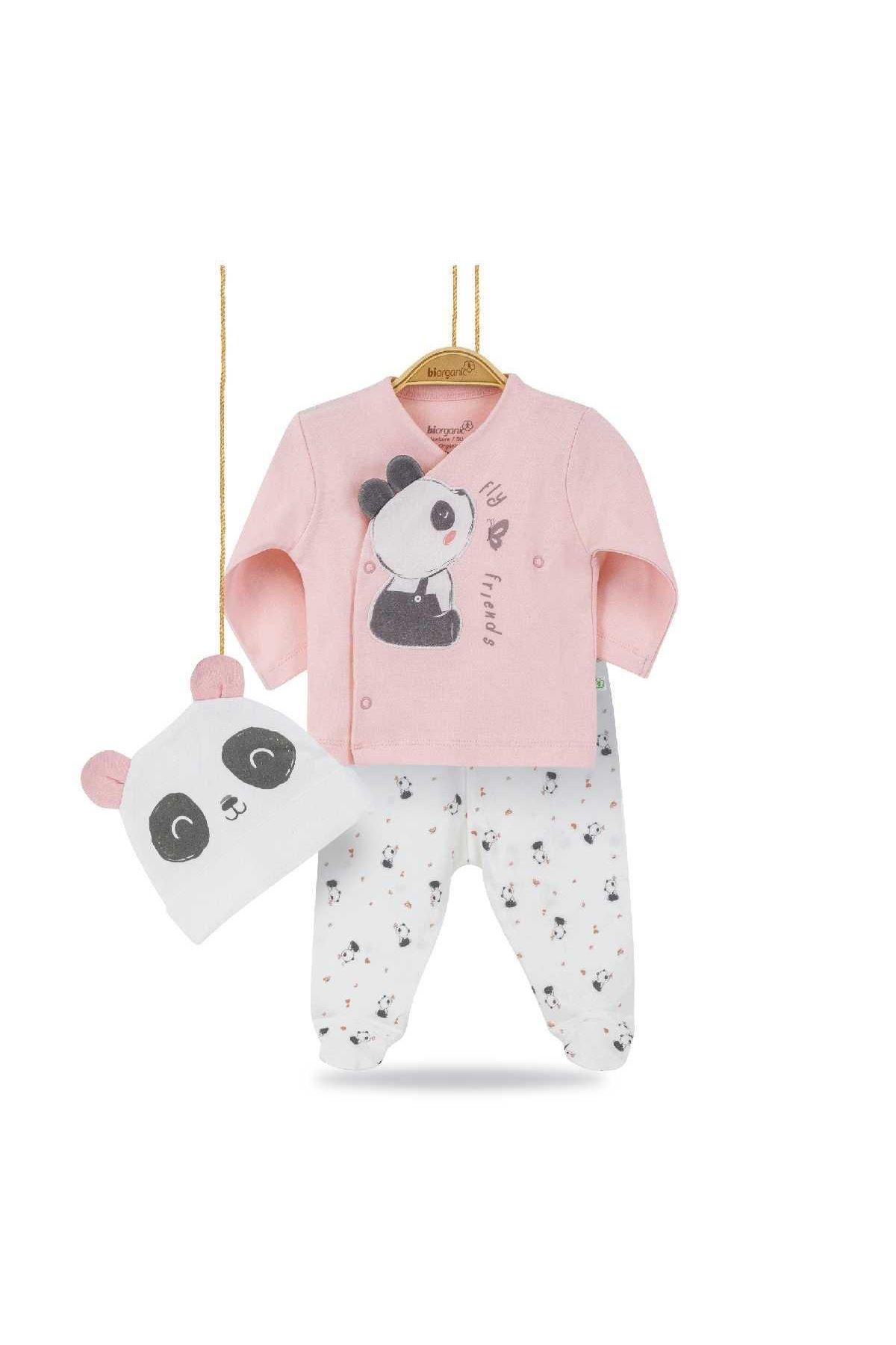 Bibaby Biorganic Elegant Panda 3lü Zıbın Seti 73221 Organik