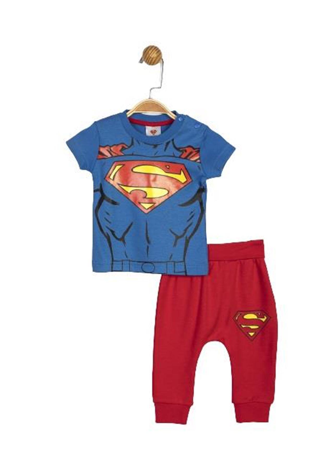 Çimpa Superman 2li Takım SM14059 Saks Mavi