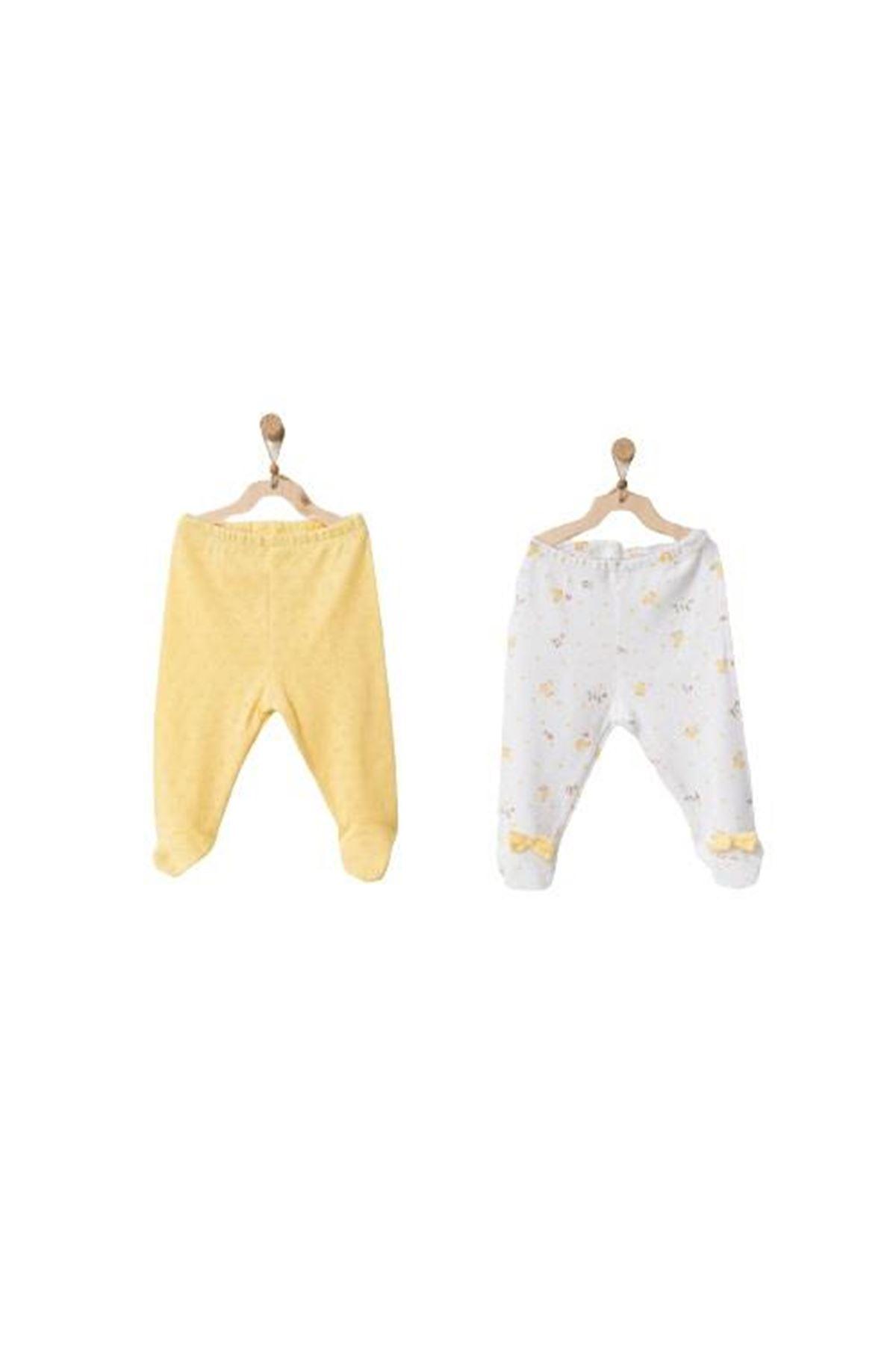 Andywawa AC21575 Happy Chicky 2li Pantolon Yellow