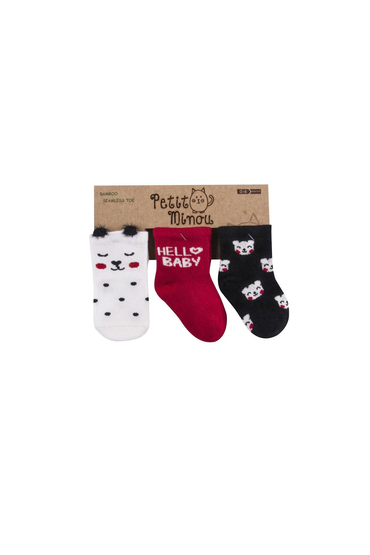 Step 3lü 3D Cat Soket Çorap 2115 Karışık Renkli