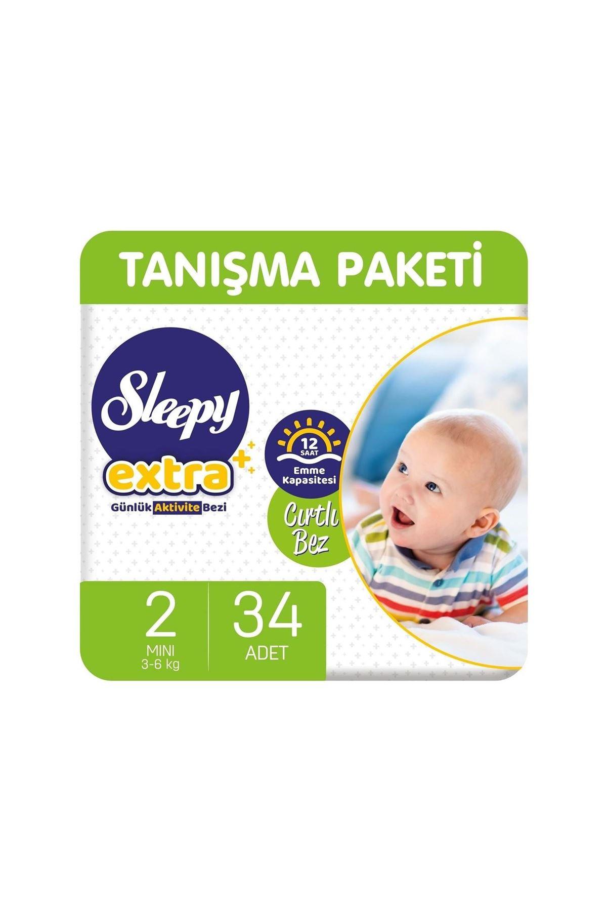 Sleepy Extra Günlük Aktivite Bebek Bezi 2 Beden 3-6 Kg 34 Adet