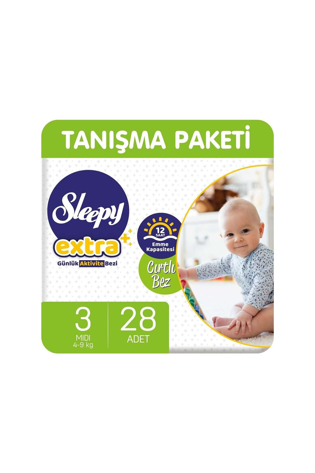 Sleepy Extra Günlük Aktivite Bebek Bezi 3 Beden 4-9 Kg 28 Adet