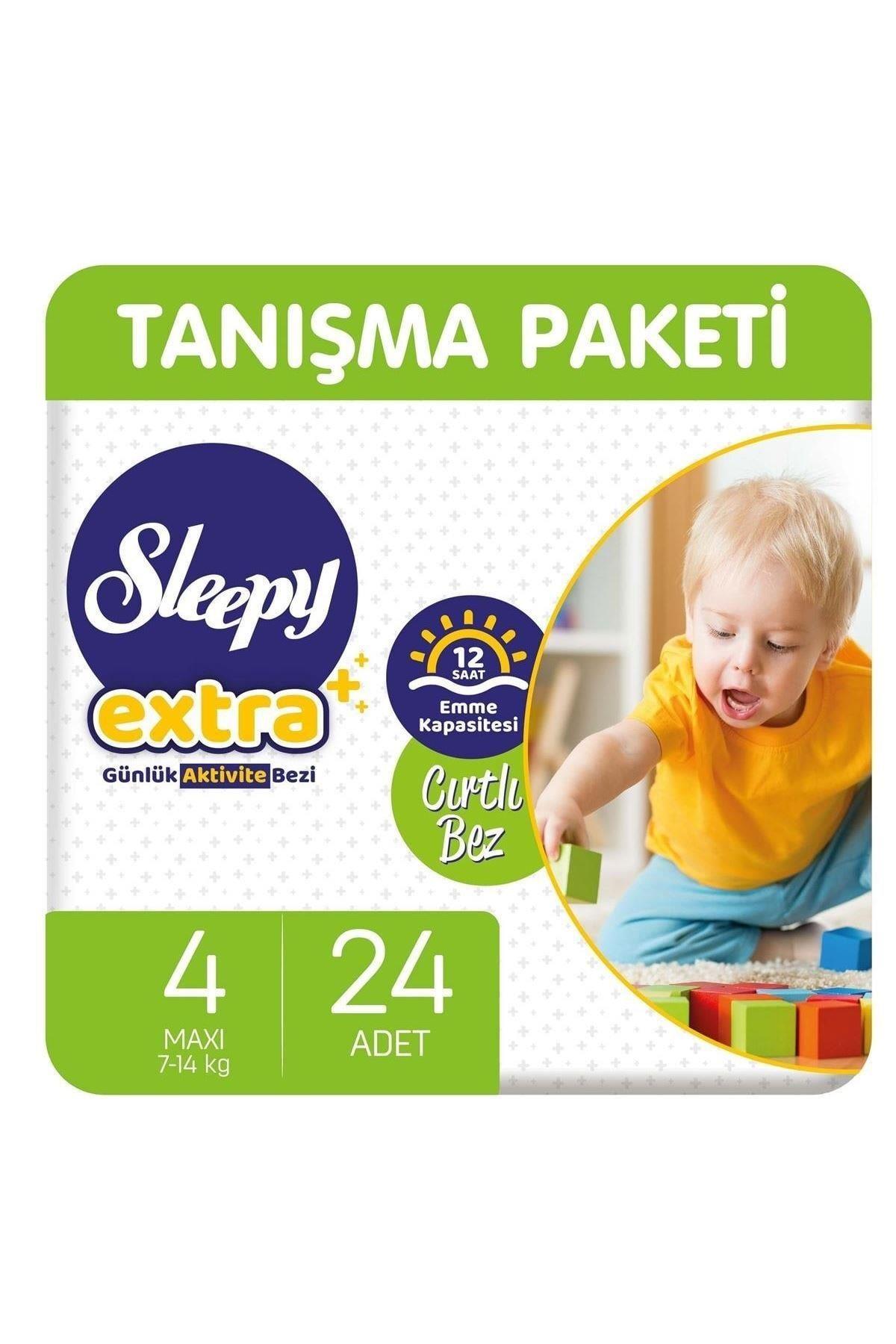 Sleepy Extra Günlük Aktivite Bebek Bezi 4 Beden 7-14 Kg 24 Adet