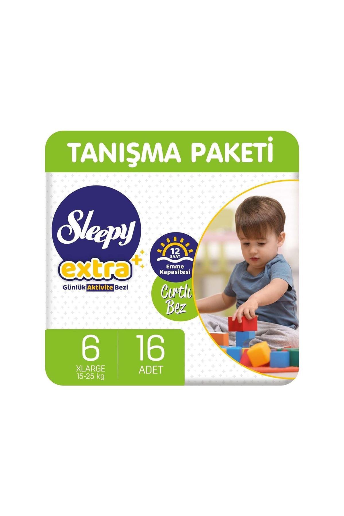 Sleepy Extra Günlük Aktivite Bebek Bezi 6 Beden 15-25 Kg 16 Adet