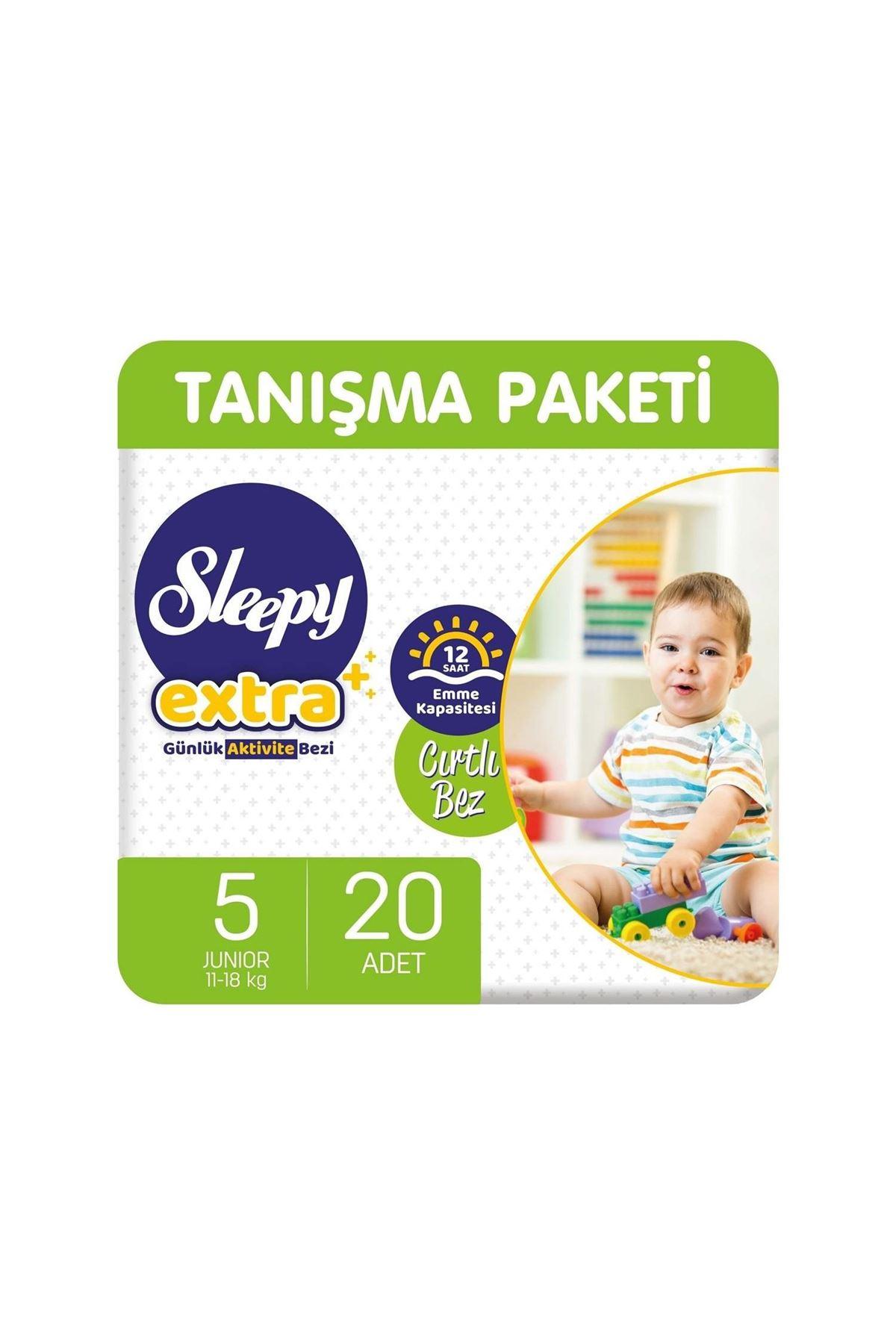 Sleepy Extra Günlük Aktivite Bebek Bezi 5 Beden 11-18 Kg 20 Adet