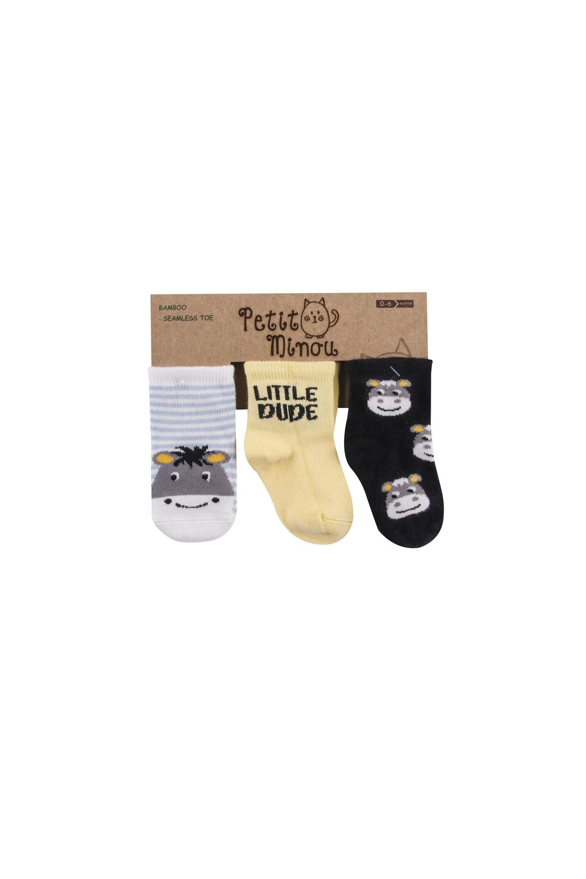 Step 3lü Little Dude Soket Çorap 2119 Karışık Renkli