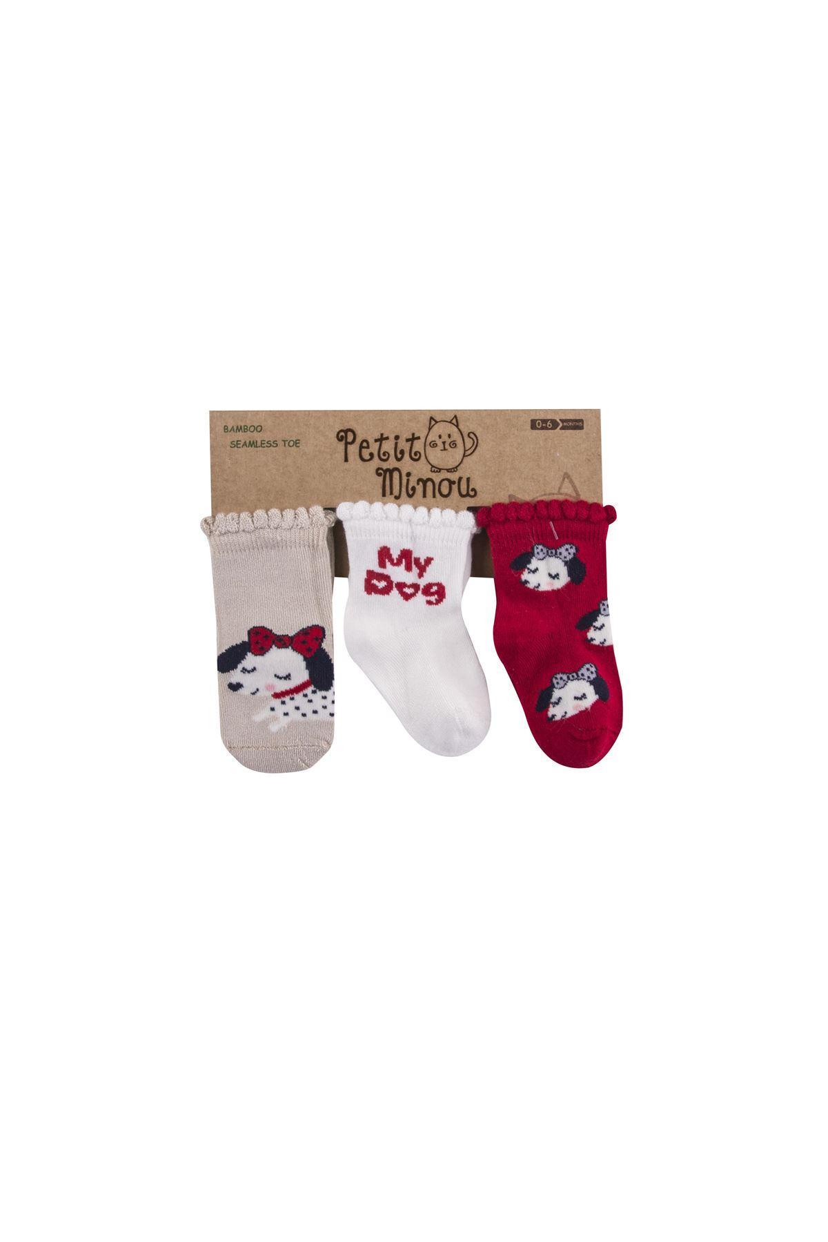 Step 3Lü My Dog Soket Çorap 2114 Karışık Renkli