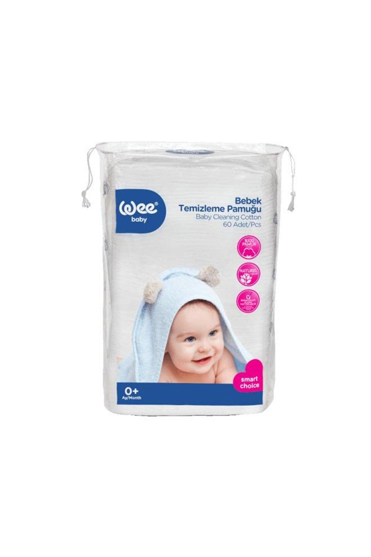 Wee Baby Bebek Temizleme Pamuğu 60lı 321