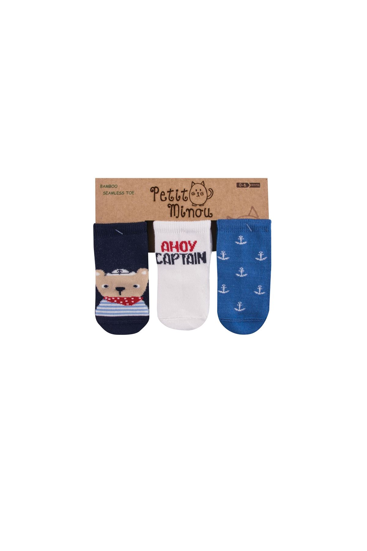 Step 3Lü Ahoy Captain Soket Çorap 2121 Karışık Renkli