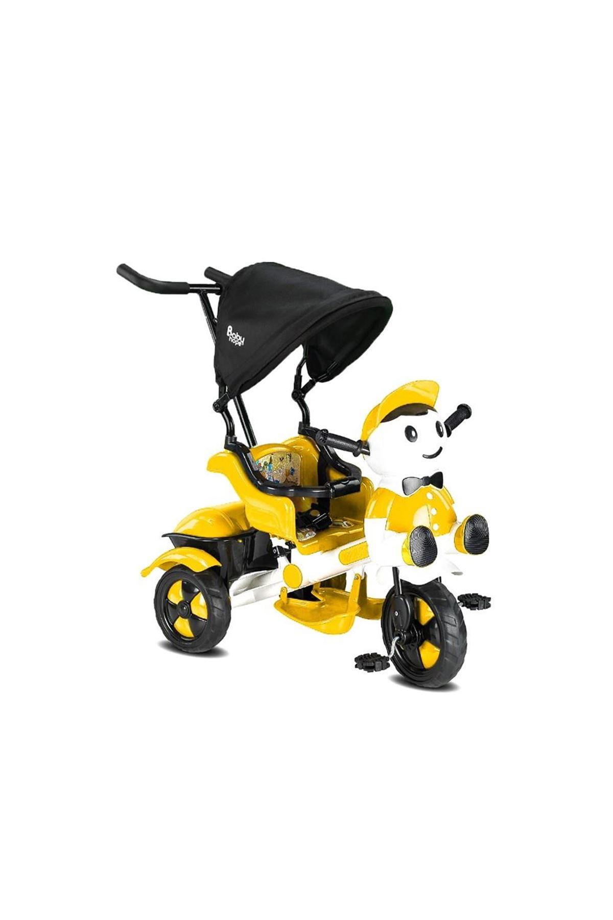 Babyhope 125 Yupi Triycle 3 Tekerli Kontrollü Bisiklet Sarı