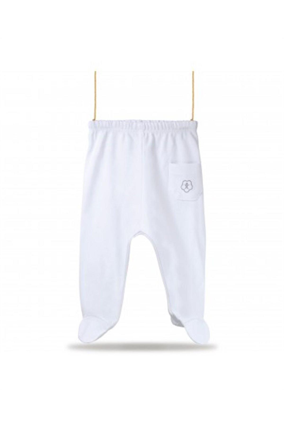Bibaby Bi Organik Basic Patikli Pantolon 57499 Beyaz