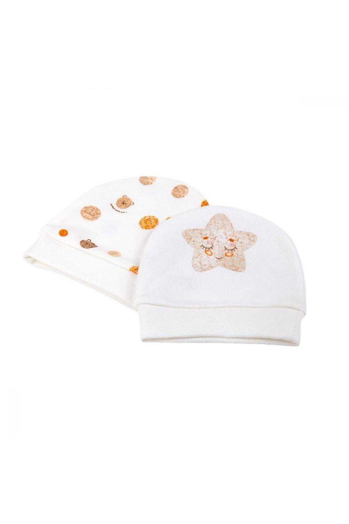 Bibaby Bi Organik Star Smile Şapka 2Lİ 72118 Turuncu
