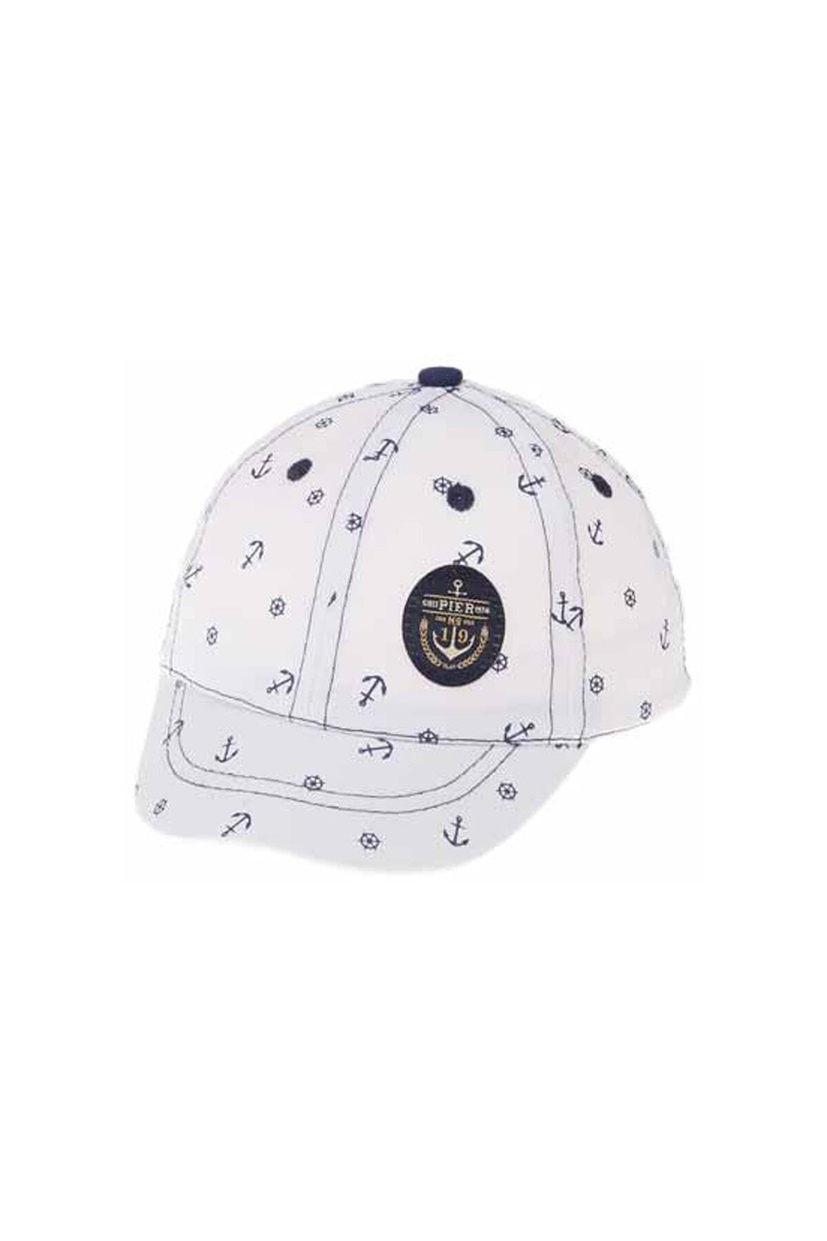 Kitti Aylık Erkek Şapka (0-18 Ay) 101003 Beyaz
