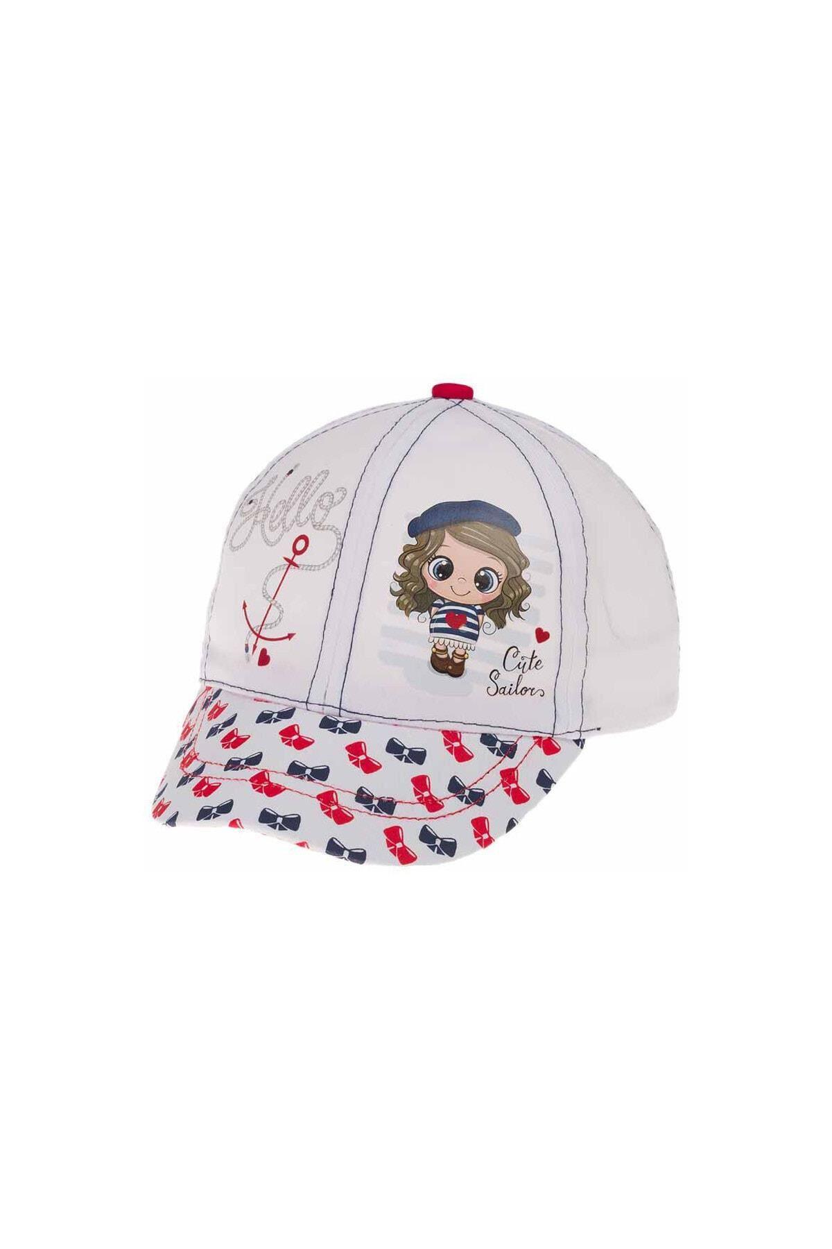 Kitti Bebe Kız Şapka (1-4 Yaş) 110003 Beyaz