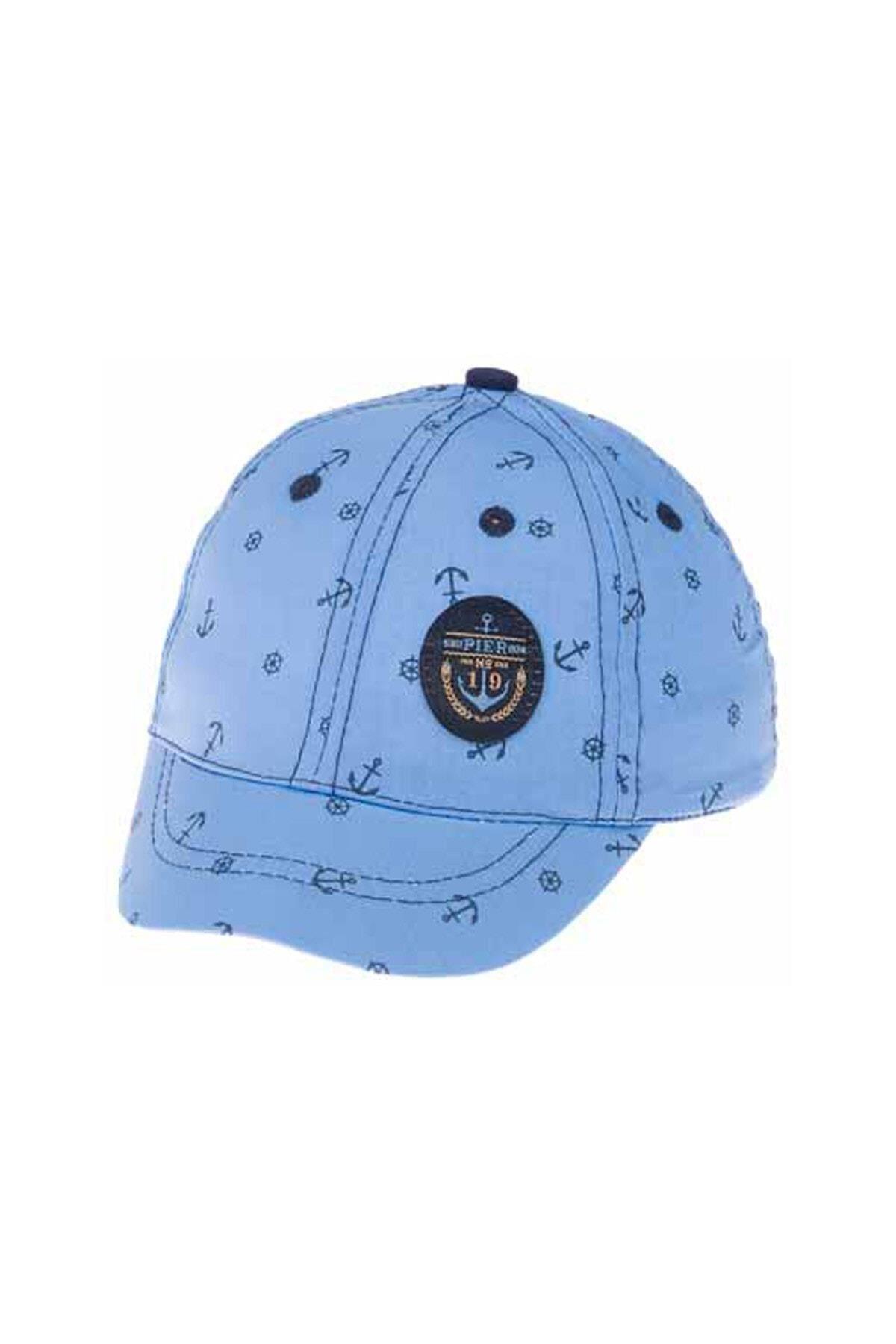 Kitti Aylık Erkek Şapka (0-18 Ay) 101003 Açık Mavi