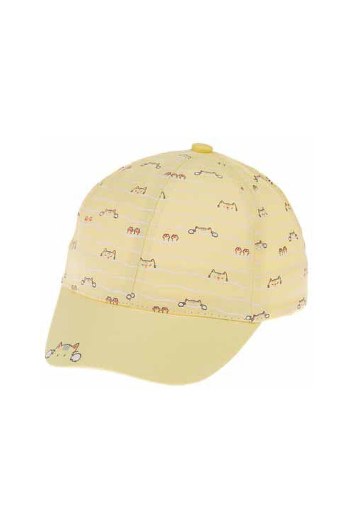 Kitti Bebe Kız Şapka (1-4 Yaş) 110001 Sarı