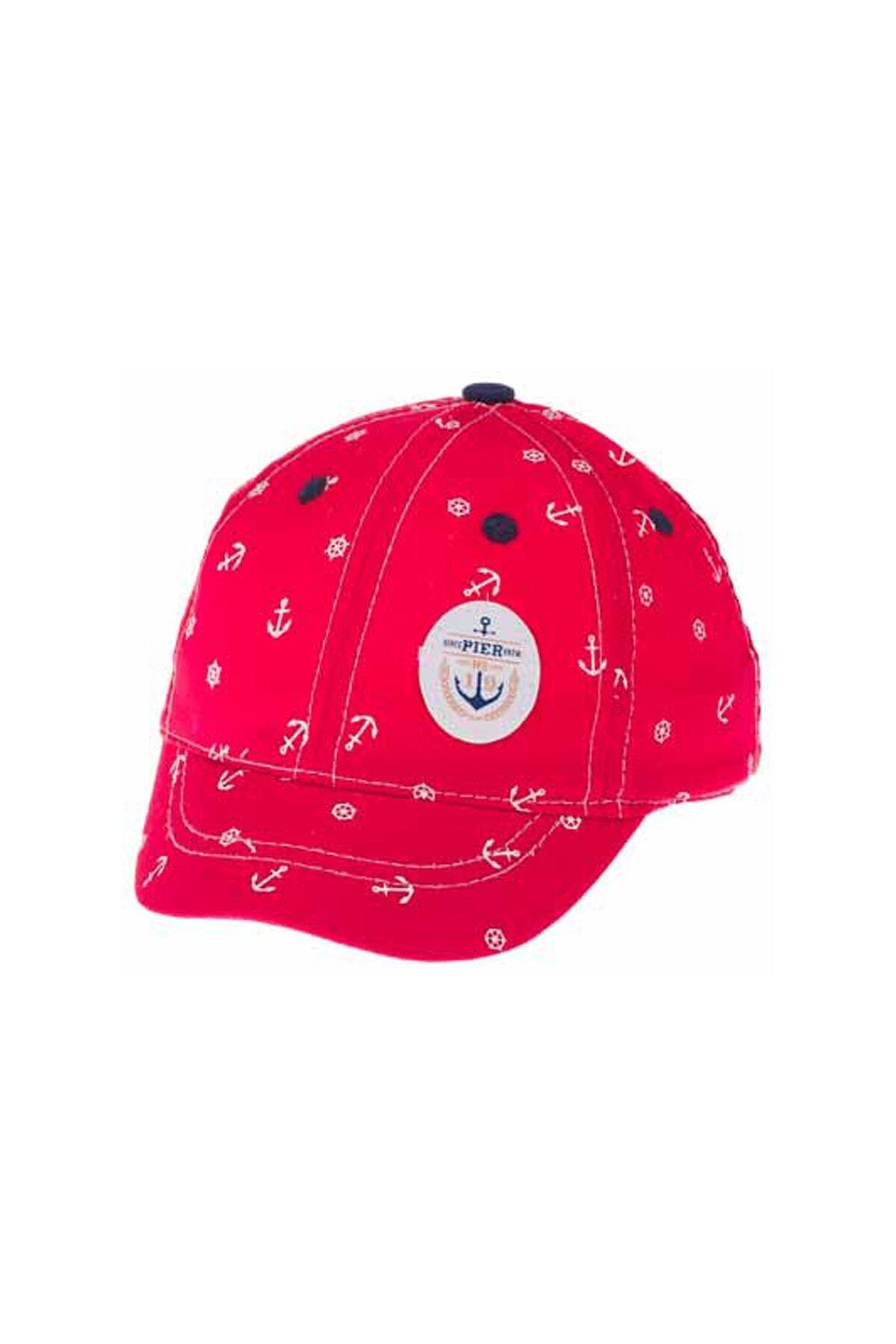 Kitti Aylık Erkek Şapka (0-18 Ay) 101003 Kırmızı