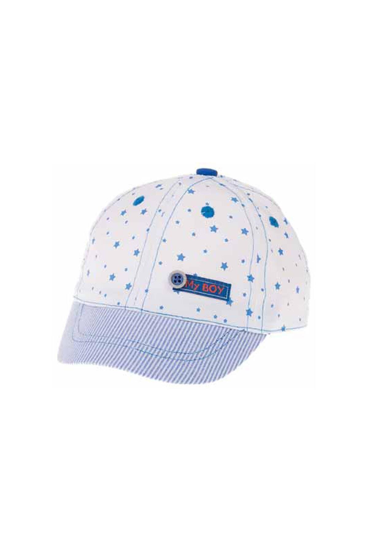Kitti Aylık Erkek Şapka (0-18 Ay) 101004 Beyaz