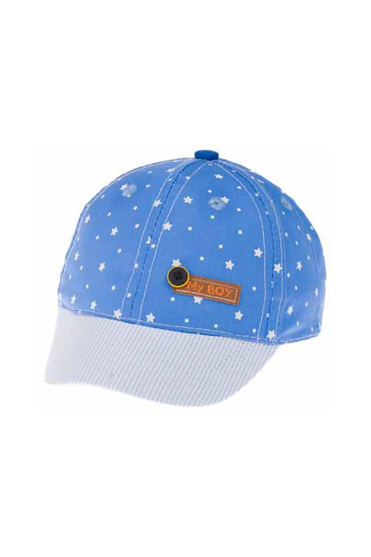 Kitti Aylık Erkek Şapka (0-18 Ay) 101004 Mavi