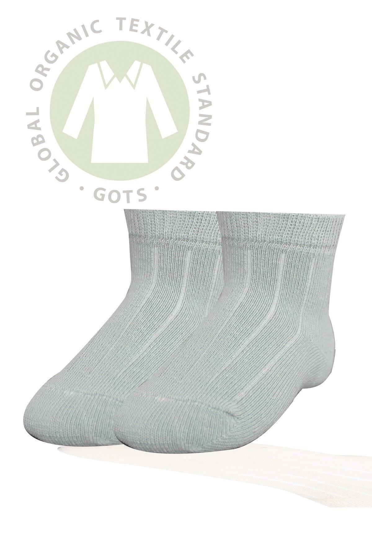 Bibaby Biorganik Simple Bebe Çorap 68368 Yeşil