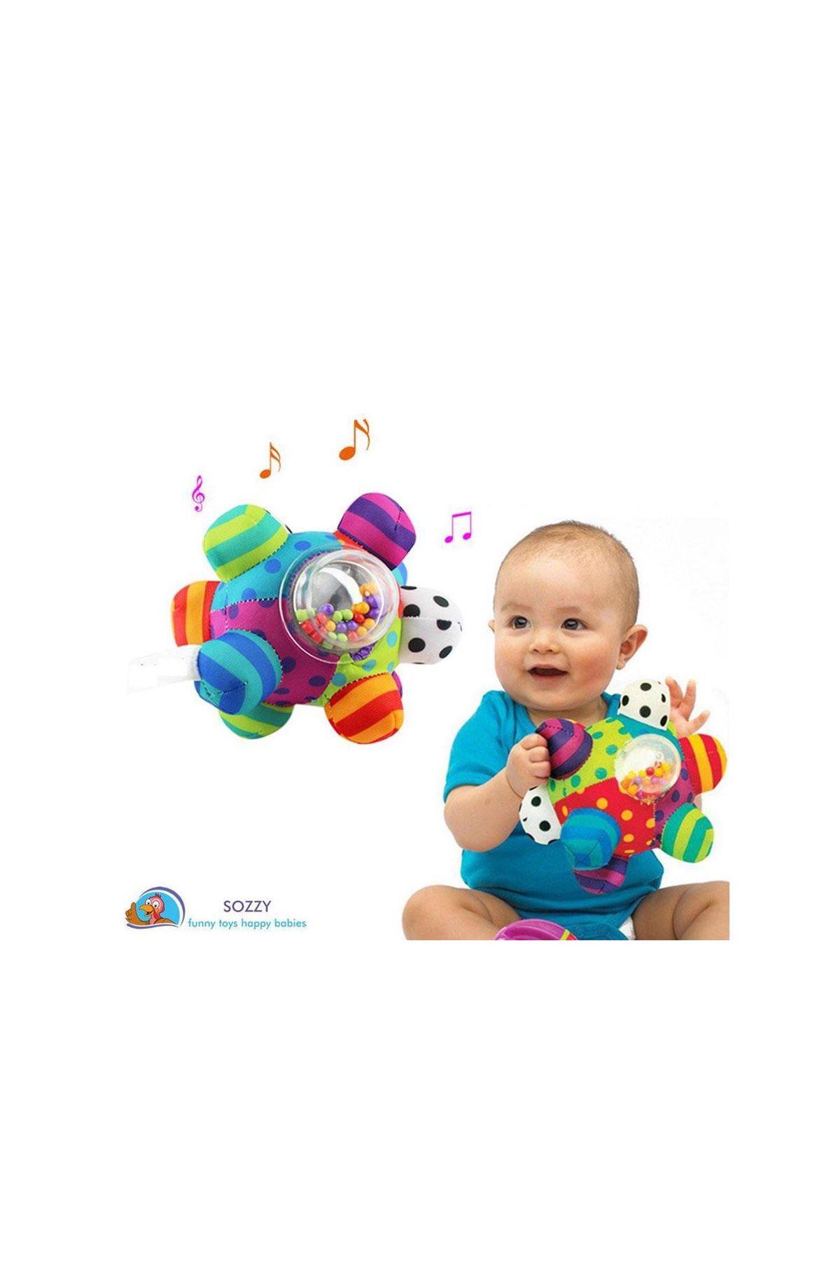 Sozzy Toys Çıngıraklı Renkli Topum SZY205