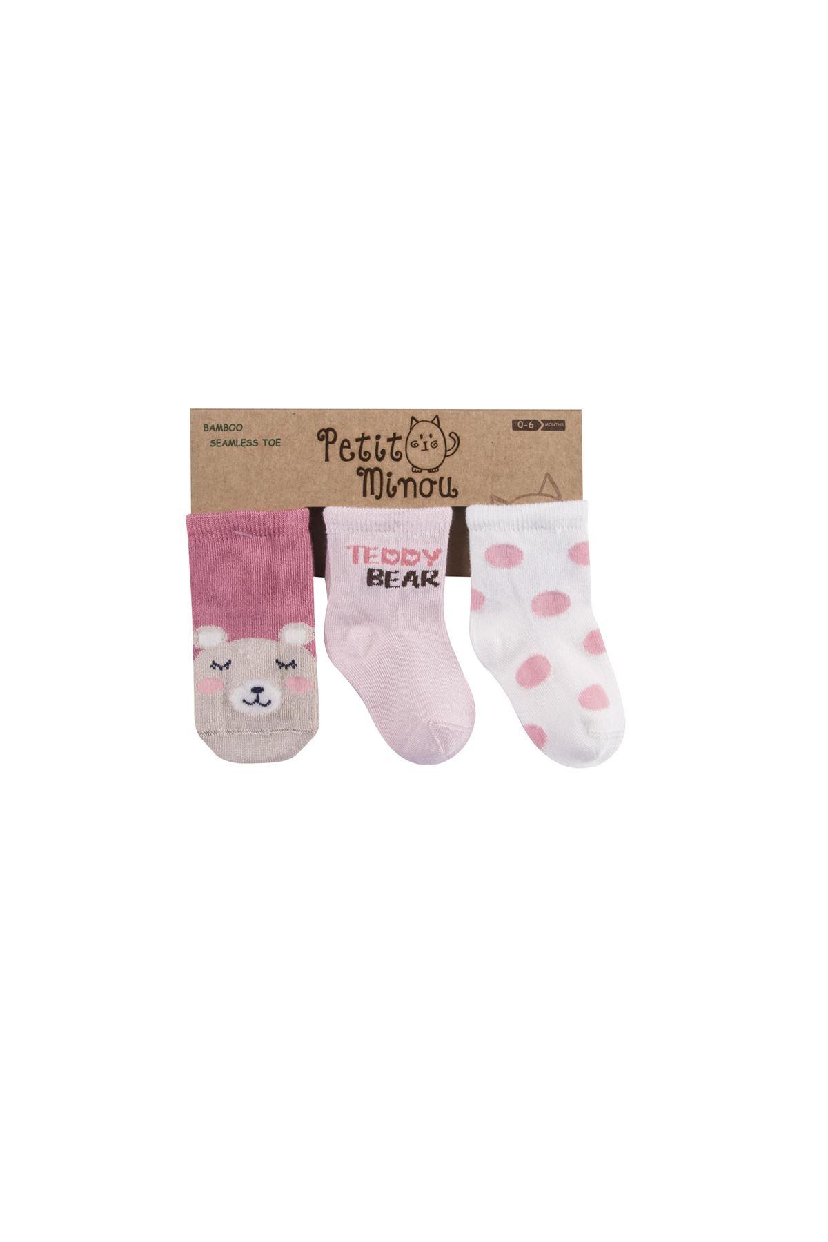 Step 3lü Teddy Bear Soket Çorap 2111 Karışık Renkli