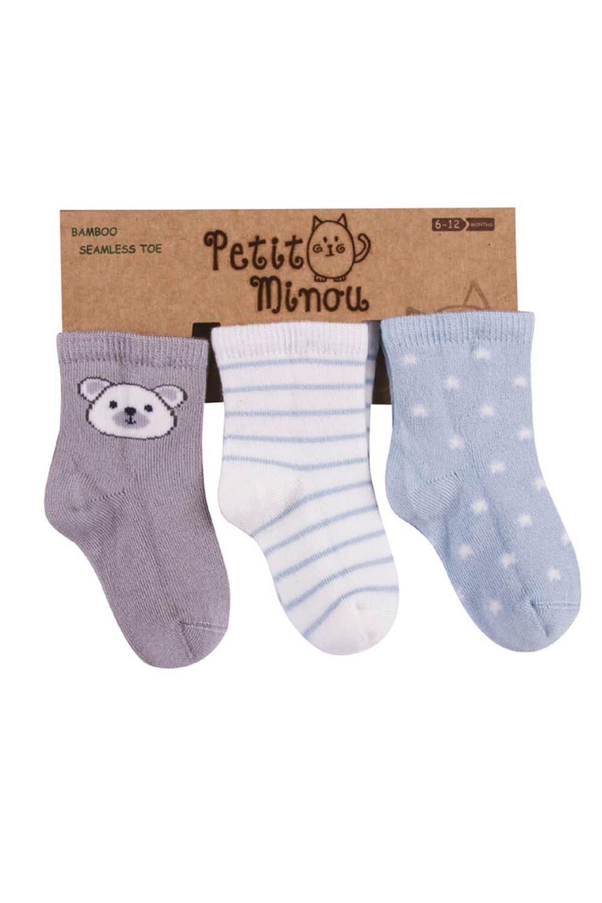 Step 3lü Ayıcık Soket Çorap 2084 Karışık Renkli