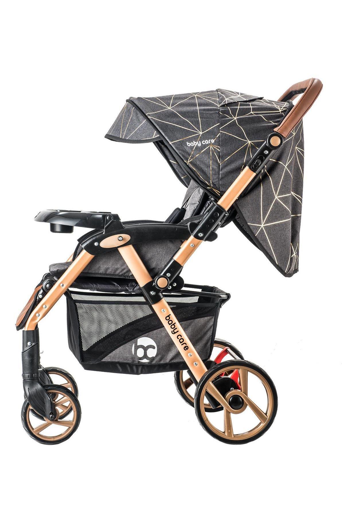 Baby Care 55 Maxi Pro Çift Yönlü Bebek Arabası Gold Siyah