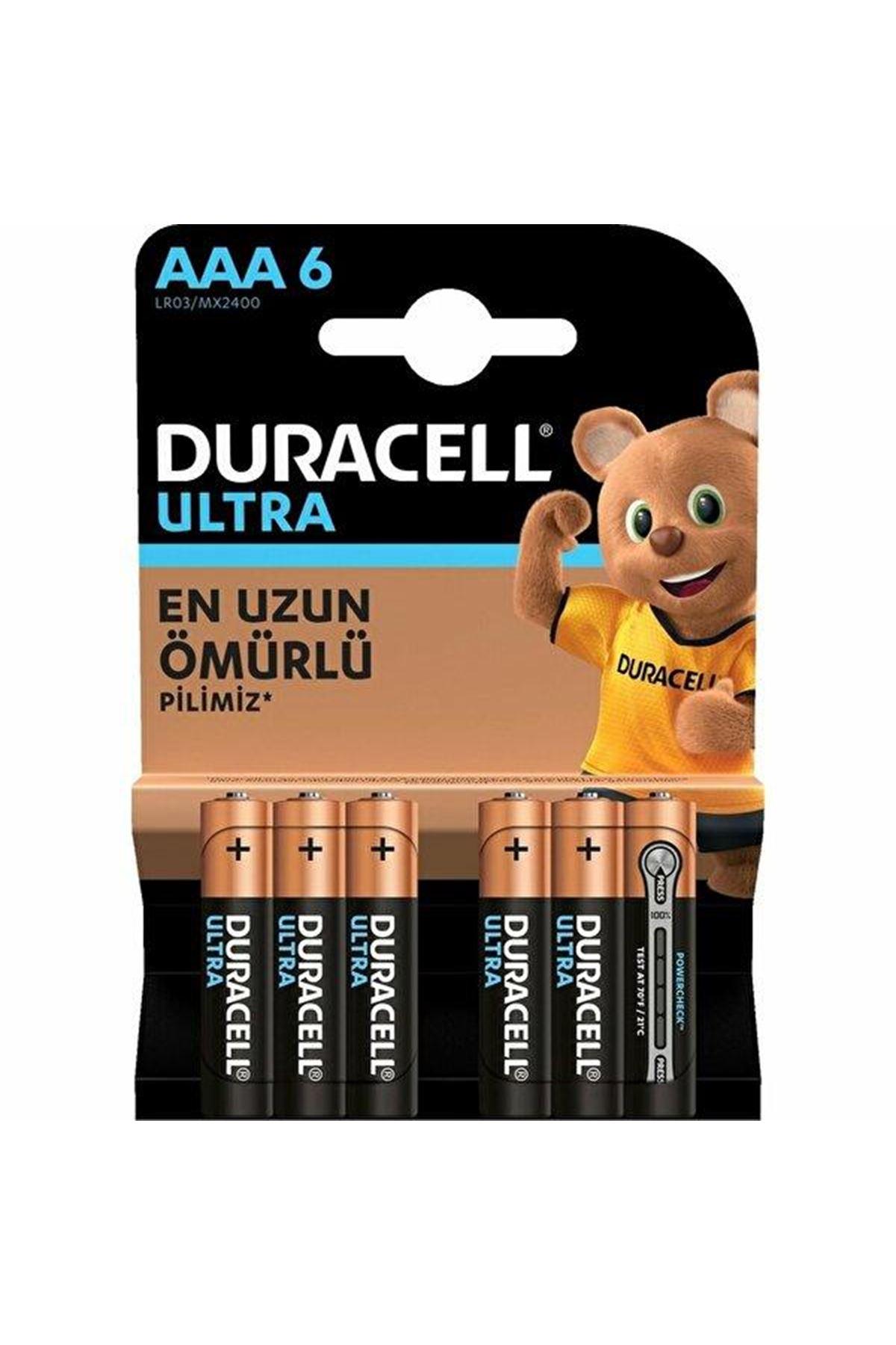 Duracell Ultra İnce Kalem Pil 6LI AAA