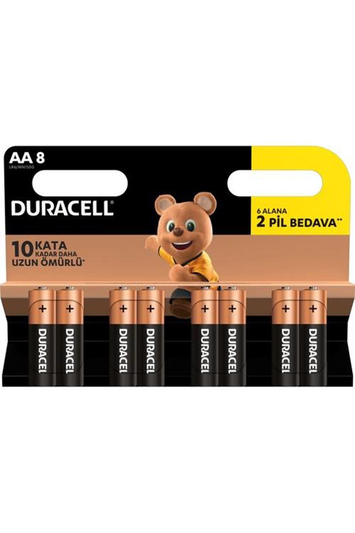 Duracell Basic Kalem Pil 8Lİ AA