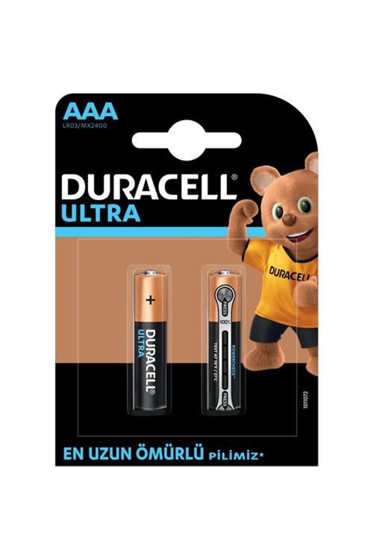 Duracell Ultra İnce Kalem Pil 2Lİ AAA