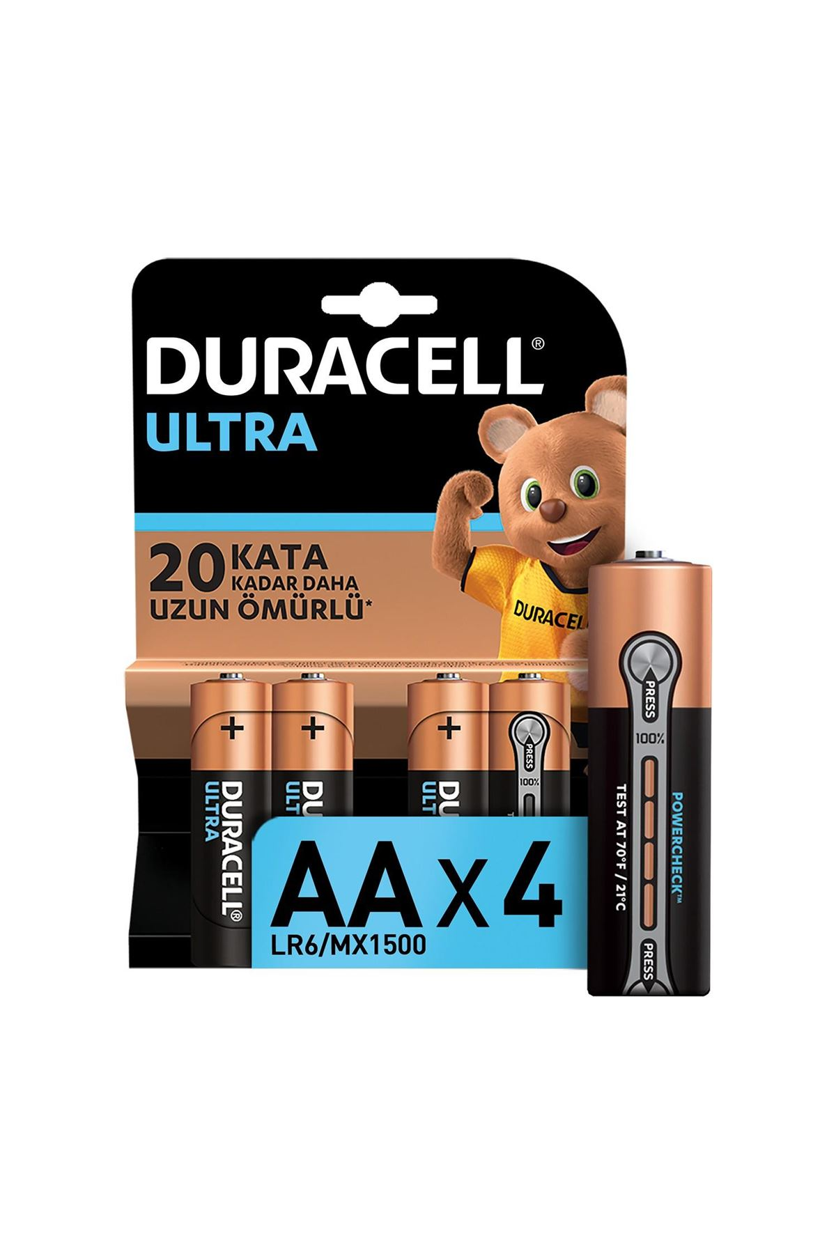 Duracell Ultra Kalem Pil 4LÜ AA