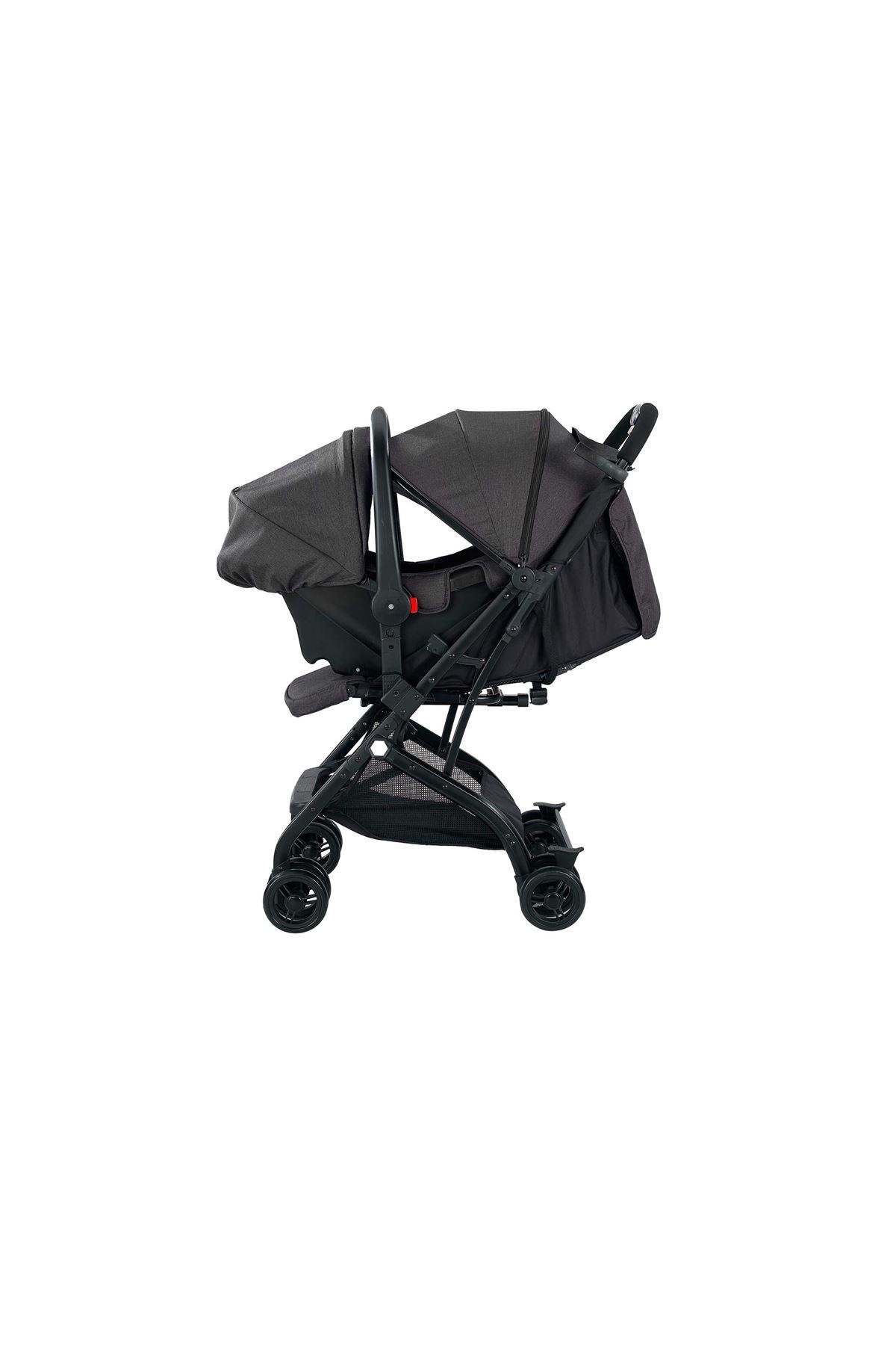 Baby2go Heets Travel Sistem Bebek Arabası 2031 Gri