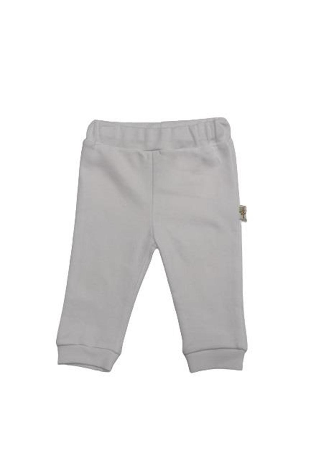 Albimini Minidamla Düz Patiksiz Pantolon 44694 Beyaz