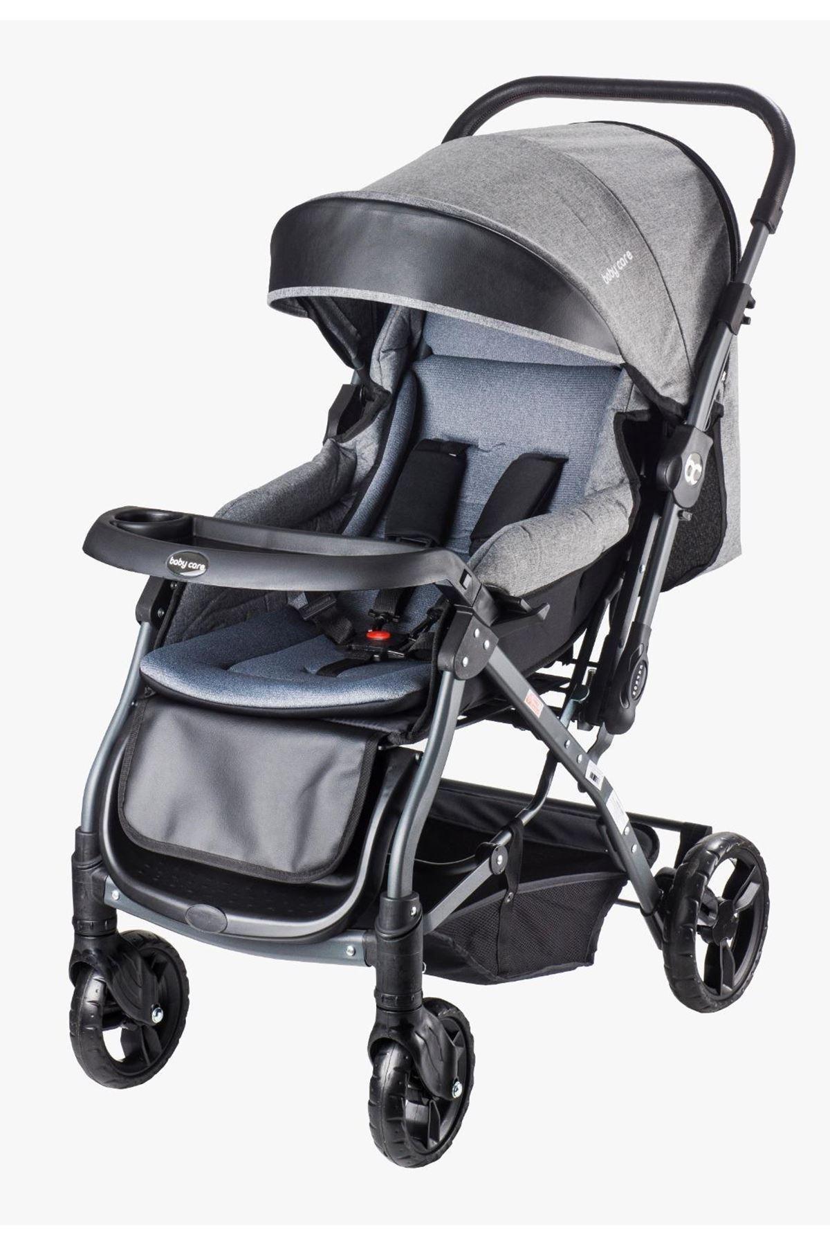 Baby Care 65 Capron Çift Yönlü Bebek Arabası Gri