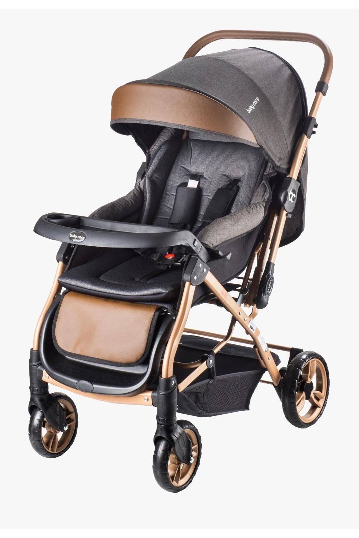 Baby Care 65 Capron Çift Yönlü Bebek Arabası Gold Siyah