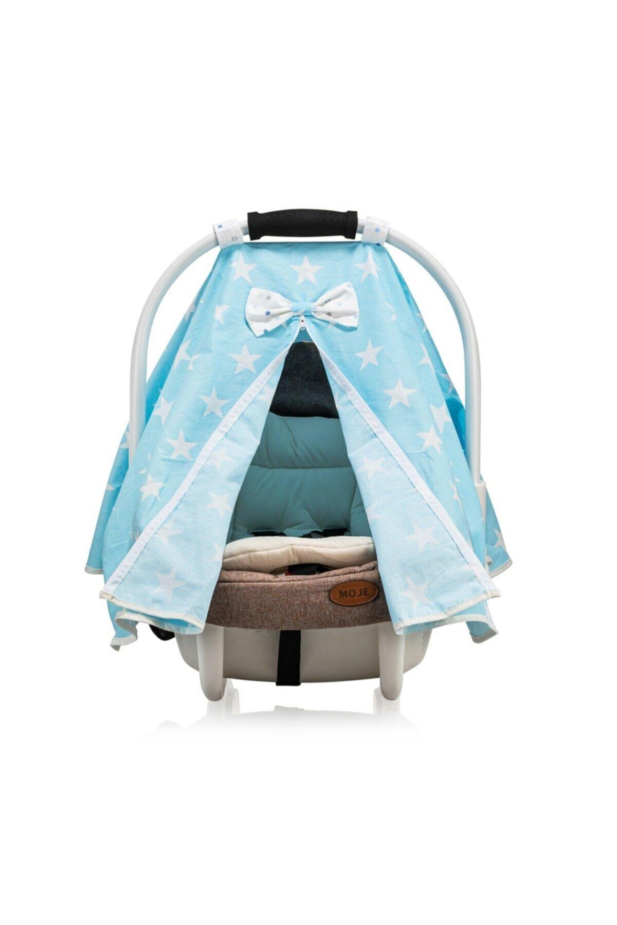 Moje Taşıma Koltuğu Ana Kucağı Örtüsü Small Yıldız Mavi