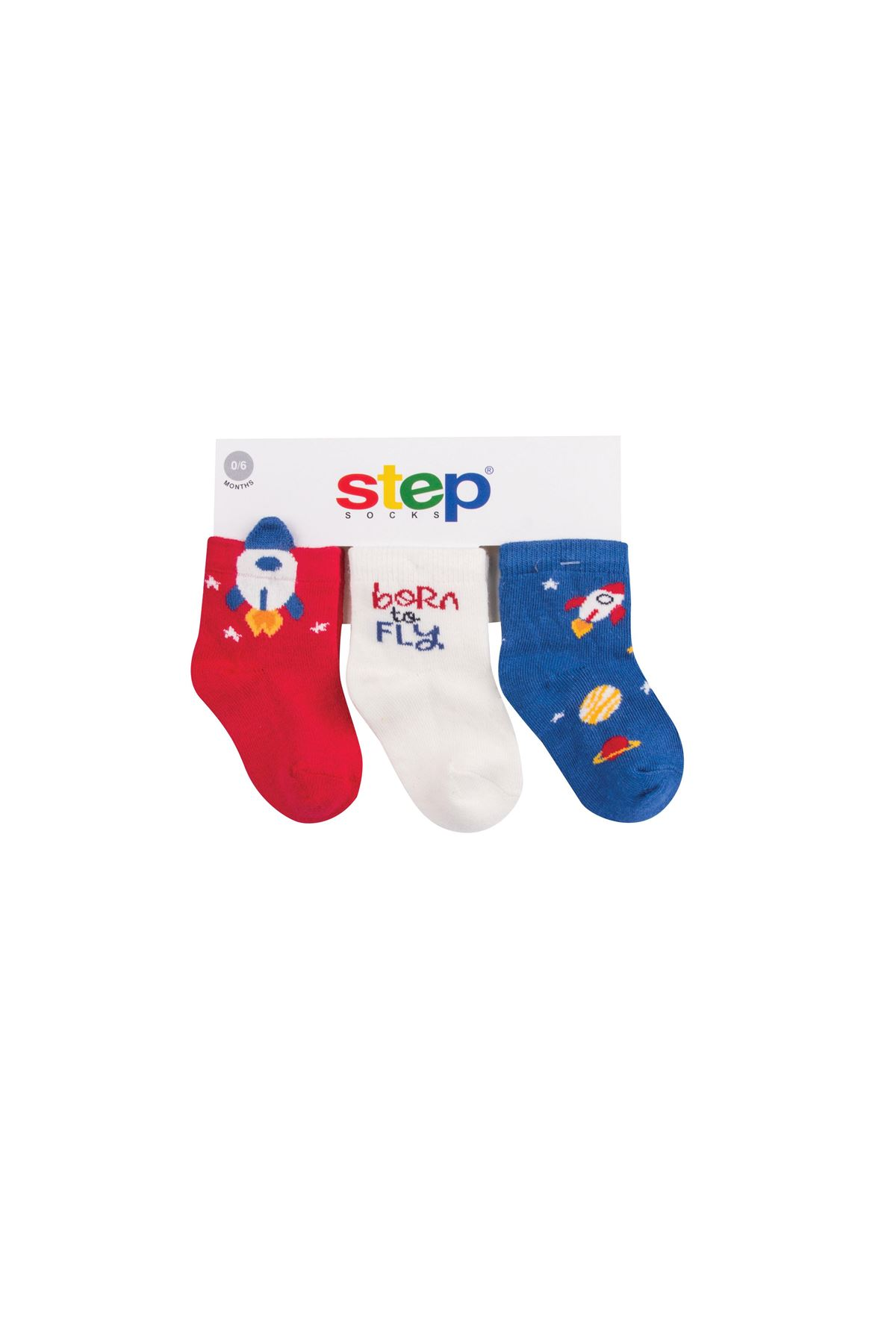 Step 3Lü 3D Uzay Soket Çorap 10151 Karışık Renkli