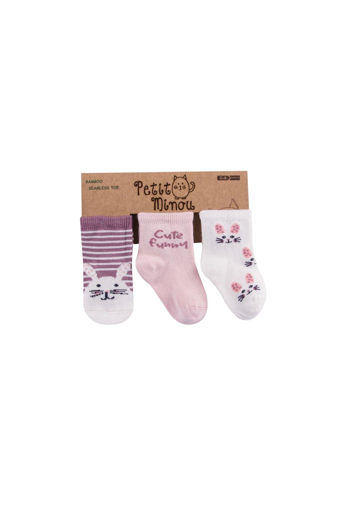 Step 3lü Cute Funny Soket Çorap 2107 Karışık Renkli